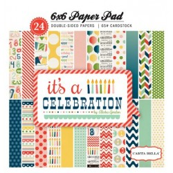 (CB-IC24015)Carta Bella It's A Celebration 6x6 Inch Paper Pads