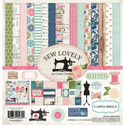 (CB-SL25016)Carta Bella Sew Lovely 12x12 Inch Collection Kit