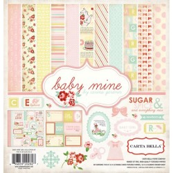 (CB-BMG26016)Carta Bella Baby Mine Girl 12x12 Inch Collection Ki