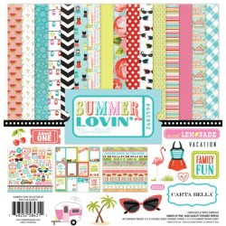 (CB-SU28016)Carta Bella Summer Lovin' 12x12 Inch Collection Kit