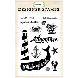 (CB-Stamp1)Carta Bella Ahoi There Whale Of A Tail Clear Stamps