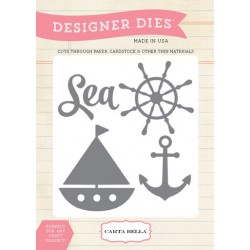 (CBM-Die1)Carta Bella Ahoi There Sea Ship Anchor Designer Dies