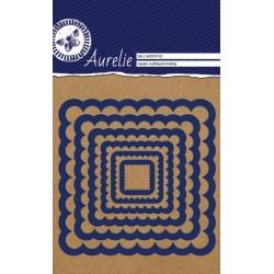 (AUCD1010)Aurelie Square Scalloped Nesting Die