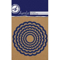 (AUCD1008)Aurelie Circle Scalloped Nesting Die