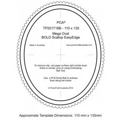 (PCA-TP201716B)BOLD Mega Oval Outside Bold Scallop EasyEdge