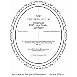 (PCA-TP102221F)FINE Mega Oval Outside Large Fine Scallop EasyEdge