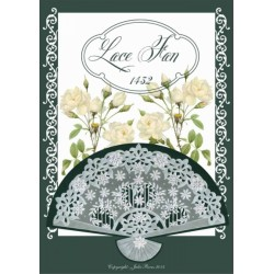 (JR1432)Julie Roces Lace Fan serie No 2
