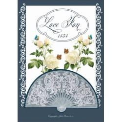 (JR1434)Julie Roces Lace Fan serie No 4