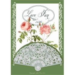 (JR1436)Julie Roces Lace Fan serie No 6