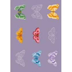Pergamano vellum Butterflies (5S) (62578)