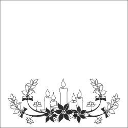 (EFE015)Embossing folder Christmas Candles