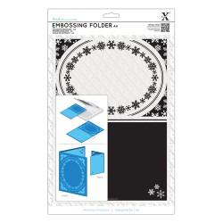 (XCU515912)Xpress embossing folder A4 Snowflake frame