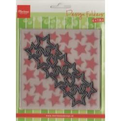 (DF3408)Marianne Design Folder extra stars