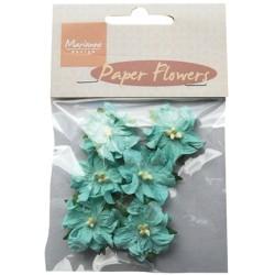 (RB2228)Paper Flowers blue