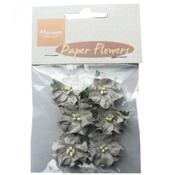 (RB2229)Paper Flowers grey
