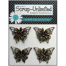 (VB033)Scrap-Unlimited Vlinders Brons