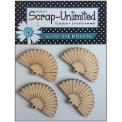 (HD032)Scrap-Unlimited fan in wood