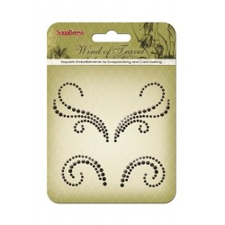 (SCB250001076)ScrapBerry's Curls Wind Of Travel 3 Pearl Swirl