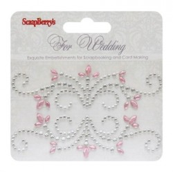 (SCB250001078)ScrapBerry's Curls For Wedding 1 Pearl Swirl