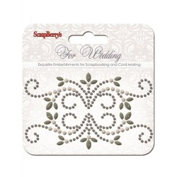 (SCB250001079)ScrapBerry's Curls For Wedding 2 Pearl Swirl