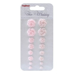 (SCB250001084)ScrapBerry's Set Of Roses For Wedding 1 Resin