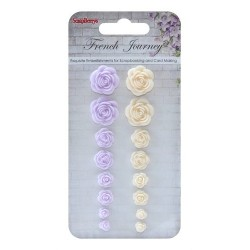 (SCB250001086)ScrapBerry's Set Of Roses French Journey 1 Resin