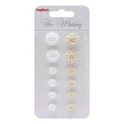 (SCB250001091)ScrapBerry's Set Of Chrysanthemums For Wedding 2 R