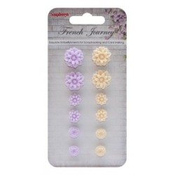 (SCB250001092)ScrapBerry's Set Of Chrysanthemums French Journey