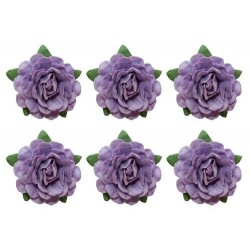 (SCB291804)ScrapBerry's Tea Roses' 18 mm 6 pcs Purple