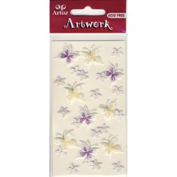 Artwork 185600-01 papillons glitter
