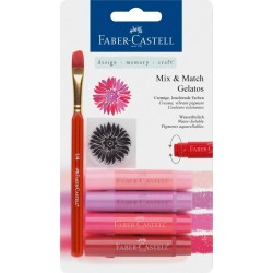 (FC-121802)Faber Castell Gelatos & Clear Stamp Set Red