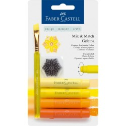 (FC-121801)Faber Castell Gelatos & Clear Stamp Set Yellow