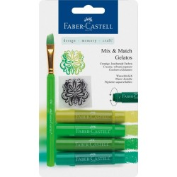 (FC-121804)Faber Castell Gelatos & Clear Stamp Set Green
