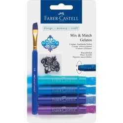 (FC-121803)Faber Castell Gelatos & Clear Stamp Set Blue