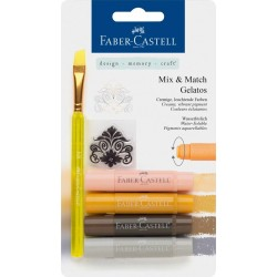(FC-121805)Faber Castell Gelatos & Clear Stamp Set Neutral