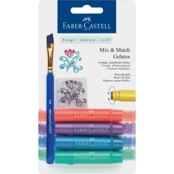 (FC-121806)Faber Castell Gelatos & Clear Stamp Set Metallic