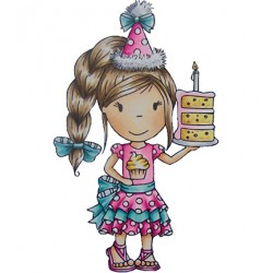 (PND70038)Paper Nest Dolls Birthday Cake Ellie