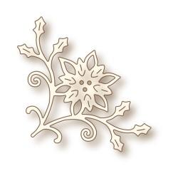 (SD0033)Wild Rose Studio`s Specialty die - Poinsettia Corner