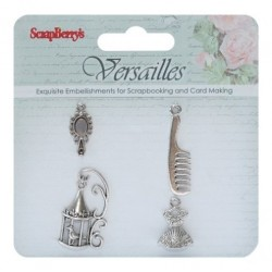 (SCB250001053)ScrapBerry's Metal Charms Set Versailles, 4 pcs