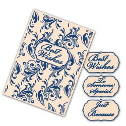 (EF012)Tattered Lace Interchangeable Embossing Folder Flourish S