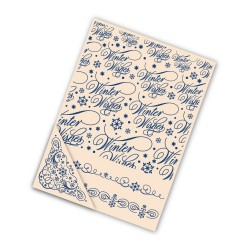 (EF010)Tattered Lace Embossing Folder Set Winter Wishes