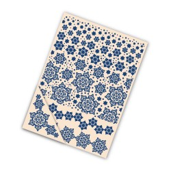 (EF007)Tattered Lace Embossing Folder Set Delicate Snowflake