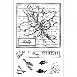(CBS0003)Stamp clear Holly Collage