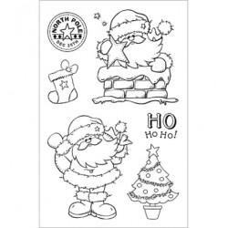 (CBS0004)Stamp clear Jolly Santa