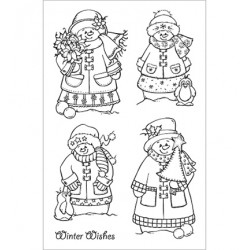 (CBS0010)Stamp clear Snow Family