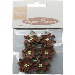 (RB2230)Paper Flowers dark brown