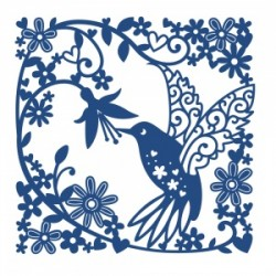 (ACD491)Tattered Lace Hummingbird Tapestry