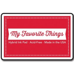 (HPAD_08)My Favorite Things Hybrid Ink Pad Red Hot