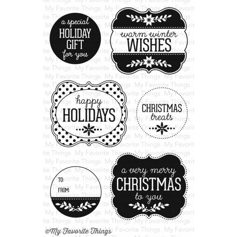 Accessoires Tagged Size One Size The Deco Haus: (LJD-42)My Favorite Things Clear Stamps Christmas Labels
