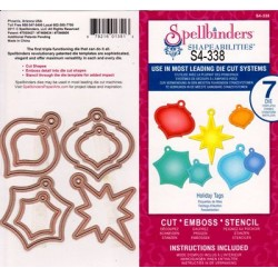 (S4-338)Spellbinders Holiday Tags